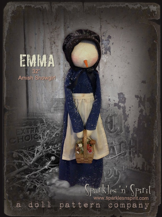 "Pattern: Emma - 32"" Amish Snow Girl"