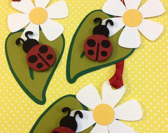 Lady bug Gift tags - 12 tags per pack - Handmade - Customizable