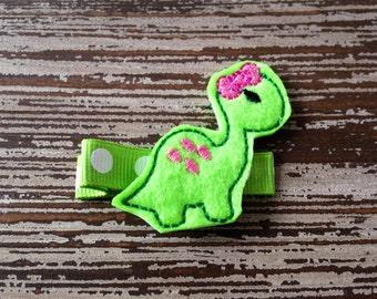 Dinosaur Hair Clip - Dinosaur Hair Bow - Dino - Felt Hair Clip - Baby Hair Clip - Toddler Hair Clip