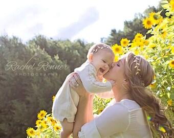 Mommy & Me Gold Leaf Headband Set - Gold Leaves Headband - Matching Headbands - Boho Headbands