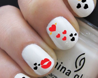 Valentine's Nail Decals - Water Nail Decal Nail Art