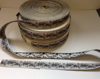 Fabulous Snake Pattern Printed,Authentic French, early 1900s. Wide 1 1/8