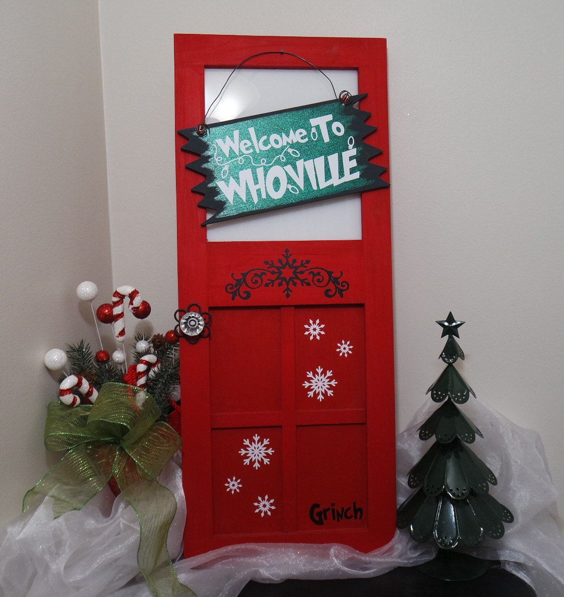 The Grinch Hanging Mini Wood Door Welcome To By