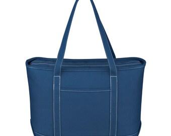 24 Large Cotton Canvas Boat Tote Bags, Large Cotton Canvas Beach Tote Bags, Blank Tote Bags in 6 Available Colors