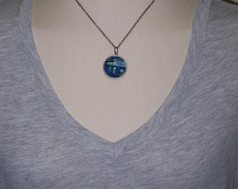 Blue Bridge Necklace, Bridge Necklace, Bridge Lovers Jewellery