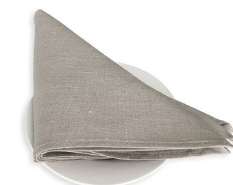 Linen napkin set of 6 - 13x13 inch size