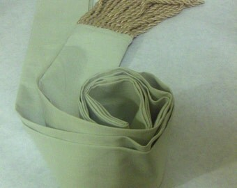 Beige Cotton Sash w/Tan Fringe for Pirate, Ren Faire