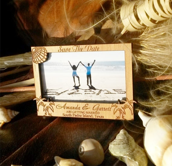 amazing wood picture frame save the date 135 wooden wedding save the date magnet