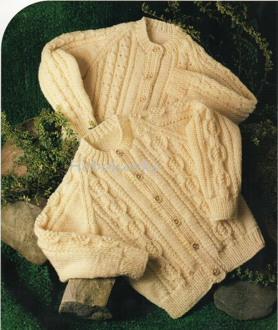 Aran Childrens Knitting Patterns : Baby Knitting Pattern Childrens Knitting Pattern aran cable