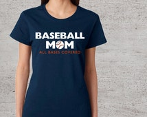 baseball mom t shirt women s crew neck baseball t shirt