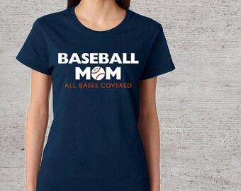 baseball mom t shirt women s crew neck baseball t shirt