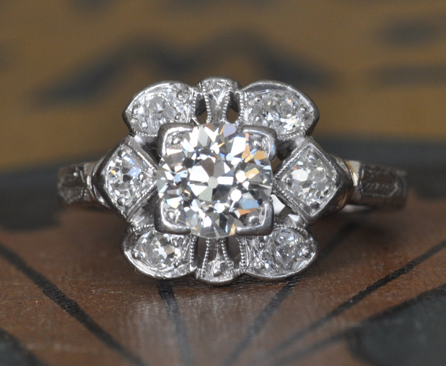 Art Deco Engagement Ring 1920s Engagement Ring Vintage