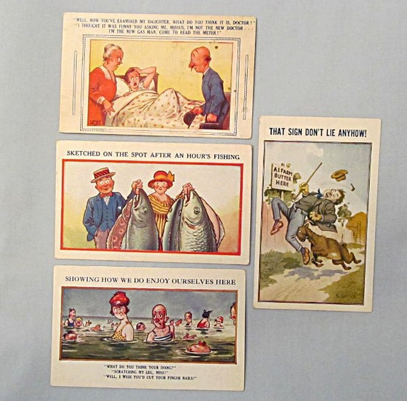 Vintage Postcard Gallery Bamforth & Co. Songs Series Postcards World War I