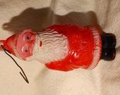 Vintage 1950's Christmas Santa Claus retro Plastic Candy Holder, Blue Eyed Kris Kringle, Saint Nick vintage 50's X-Mas Holiday Nostalgia