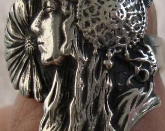 Vintage Mucha Sterling Silver Ring dmfsparkles