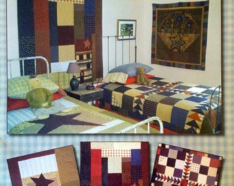 My Yesteryear Collection - Three Primitive Quilt Patterns from Primitive Pieces by Lynda