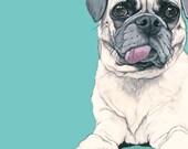 Dog Art Custom Portrait - 10x10 - Dog Art - Cat Art - Pet Portrait Painting - Custom Pet Portraits