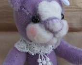Melody, 6 inch mohair lilac bear by bedlam bears