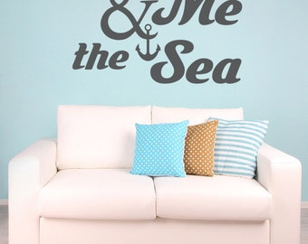 Nautical Wall Decal, Coastal Decor Beach, Beach Wall Decals, Anchor Wall Decal, Beach Wedding Decorations, Nautical Quote Decal, Dorm Decor