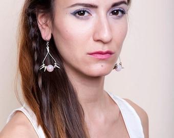 Carnelian Statement Earrings, Spike Dangle Earrings, Carnelian Jewelry