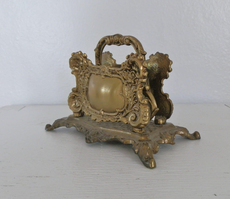 vintage brass letter envelope holder desk accessory 1961 a m With vintage brass letter holder