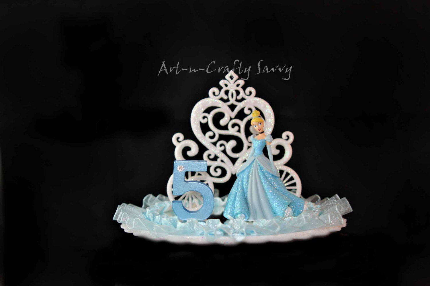 Cake Toppers Birthday Etsy : Cinderella Birthday Cake Topper 5