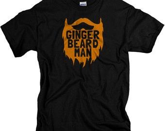 Ginger Beard Tshirt - ginger beard man t shirt ginger shirt beard t shirts beard gifts gingers redheads redhead shirts