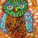 Funny Owl Print, Owl Art, Children's Room Decor, Kids Art, Green And Brown, Animal Print, Whimsical Bird, Hooty Owl by Paula DiLeo_122114