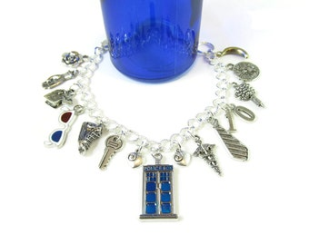 10th Doctor: David Tennant / Doctor Who Charm Bracelet