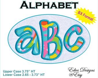 Machine Embroidery Applique Alphabet Monogram Font BX Format Machine Embroidery Applique - Digital Download