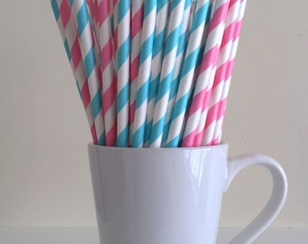 Cake Decorating Stores In Greensboro Nc : Orange and Navy Blue Striped Paper Straws Party Supplies