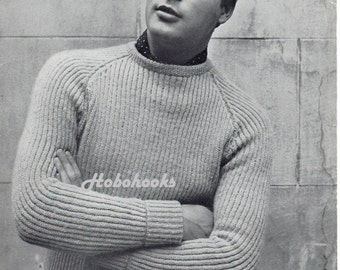 Knitting Patterns Fisherman s Rib Sweater : Fisherman jumper Etsy