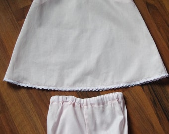 Baby handmade slip and bloomers, 18 month