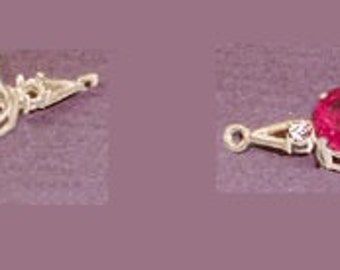 Sterling Silver ~ 6mm 7mm or 8mm ~ Round cut ~ 3mm round Accented ~ Bracelet links settings / Mountings ~ to be ordered ~ #167811 ~ FDK