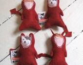Feline Retribution Cat Toys - organic catnip filled - handmade - political leftists, sci-fi geek weirdos, vengeance is yours!
