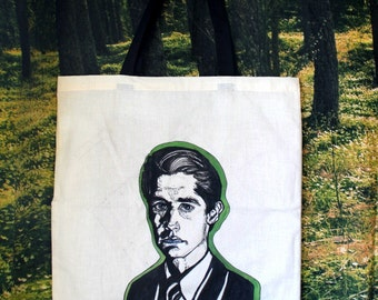Special Agent Dale Cooper / Twin Peaks / Hand Painted Tote Bag