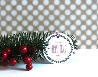 Christmas Gift Tags - 'Merry Christmas' (Set of 10) - Christmas Tags, Christmas Wrapping, Christmas Gift Wrap