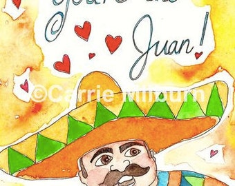 """Funny Card, """"You're the Juan!"""""""