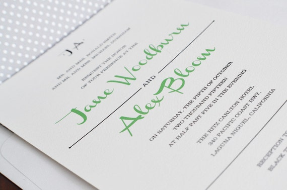 Wedding Invitation Outer Envelope: Items Similar To Jane Wedding Invitation Package (Package