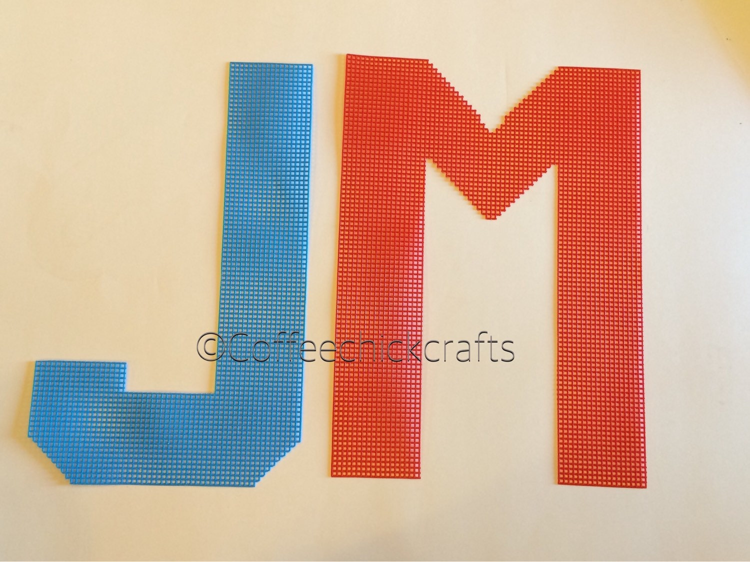 135quot large individual letters made of plastic canvas With large plastic alphabet letters