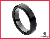 Black tungsten wedding band,Black tungsten carbide ring,FREE ENGRAVING 6mm width band,Black tungsten Ring,Wedding band for men-women
