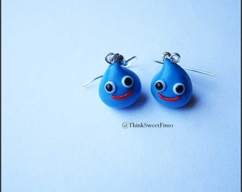 Dragon Quest - Slime Earrings. Entirely handmade in polymer clay.