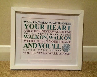 Celtic 8x10 Word art print, mounted in a choice of frame,