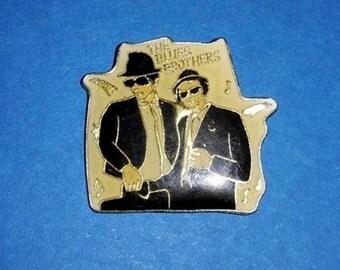 Enamelled brooch pin ENAMEL BLUES BROTHERS