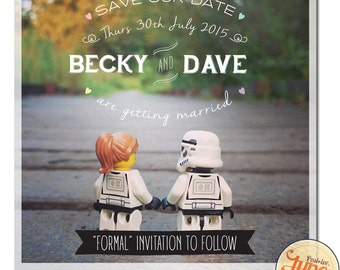 Star Wars Inspired Save the Date.