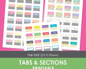 Tabs & Sections Printable