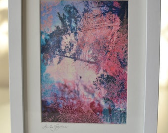Original Digital Print in White Frame and Mount - Landscape Collage