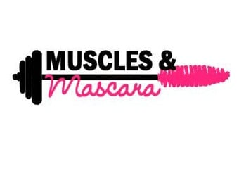 Muscles & Mascara Workout instant download for cutting machines - SVG DXF EPS ps studio3 studio