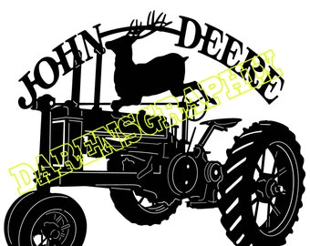 DXF File of a John Deere tractor for use with a cmc plasma cutter or laser