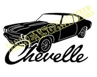 DXF file of a Chevy Chevelle  for use with a CNC machine